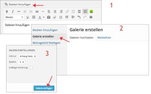 Wordpress eigene Galerie erstellen
