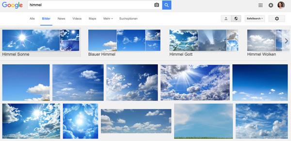 Google clustert Suchergebnisse