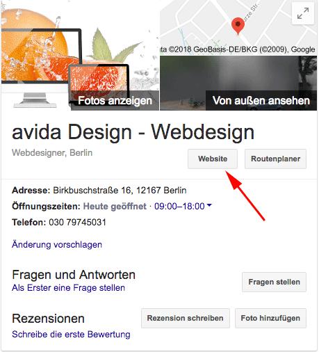 website kostenlos erstellen mit google my business. Black Bedroom Furniture Sets. Home Design Ideas