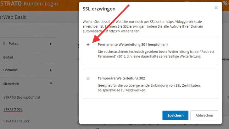 WordPress auf SSL umstellen - am Beispiel Strato - digitalFahrschule ...