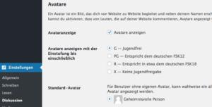 Datenschutz: Avatare in WordPress deaktivieren