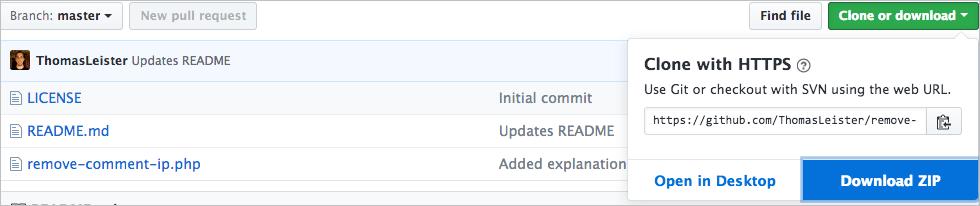 Kommentar IP Adressen nicht speichern mit dem Plugin Remove Comment IP