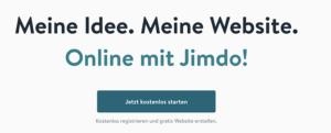 Homepage mit Jimdo erstellen