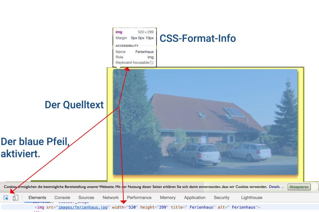 Bild-Element untersuchen im Firefox