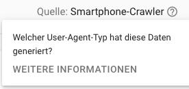 Der User-Agent ist der Smartphone-Crawler